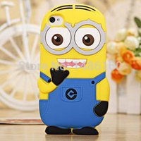 Wholesale Silicon Doll For Mans - Wholesale-2015 Yellow Men Doll Silicon case For iPhone 6 Despicable Me Minion 3D Silicon Cover For iphone 6 Plus