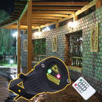 Wholesale multi spotlight resale online - Premium Outdoor Garden Decoration Waterproof IP65 Christmas Laser Spotlight Light Star Projector Showers With Remote Controller