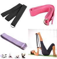 Wholesale Webbing Straps Adjustable - Promotion Retail Cotton Yoga Strap Stretch Belt Gym Exercise Webbing Fitness Workout Rope Betls Straps Adjustable Waist Leg Fitness Belt
