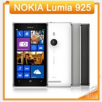 Wholesale Dual Os Windows - Original Lumia 925 Unlocked 3G 4G Nokia 925 Windows Mobile Phone ROM 16GB 8MP GPS WIFI Bluetooth refurbished mobile phone