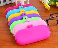 Wholesale Choice Fashion Case - Candy Colors Waterproof Silicone Sunglasses Pouch Soft Eyeglasses Bag Glasses Case Rubber coin purse multicolor free choice