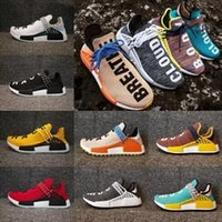 NMD Human <b>Race MOON</b> Pharrell Williams Hu NMDS Calzado deportivo Running HUMANRACE Athletic para hombre Outdoor Boost Training Sneaker Talla 36-47