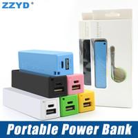 nota mini usb al por mayor-ZZYD Portable Power bank 2600 mAh Mini USB Cargador de batería de respaldo Emergance Power Bank para iP 6 7 8 Samsung S8 Note 8