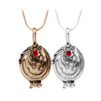 Wholesale Vintage Vampire Diaries Jewelry - New The Vampire Diaries Necklace Elena Gilbert Vintage Vervain Verbena Pendant Photo Locket Jewelry For Men And Women