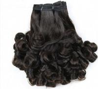 double drawn indian hair venda por atacado-Top Grade funmi cabelo 8-30 polegada duplo desenhado 3 pcs cabelo virgem barato frete grátis Indiano Peruano Malaio Virgem Cabelo brasileiro Tece