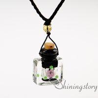colar difusores venda por atacado-Difusor medalhão difusor de aromaterapia pingente colares colar de garrafa de perfume do vintage difusor diy colar de difusor de óleo essencial