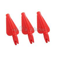 "Wholesale Feather Arrow Fletching - 10 pcs plastic arrow fletching 3 inches arrow feather arrow nock in one set 11 32"" diameter"
