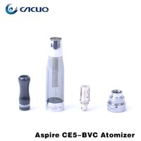 Wholesale Ego Atomizer Clearomizer Parts - 100% Original Aspire CE5 BVC Atomizer E Cig Vaporizer 1.8ml Ego T Clearomizer All Parts Replaceable