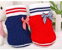 Wholesale Dog Costume Dachshund - Pet Dog Sweater for Autumn Winter Warm Knitting Crochet Clothes for Dog Chihuahua Dachshunds Pitbull
