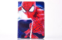 Wholesale Ipad Mini Spider Man Cover - New Spider-man superman Captain America PU Leather Case Cover For Apple iPad Mini 4 Tablet Protect Shell Free Shipping