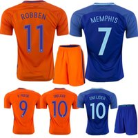 Soccer Short Polyester Whosales Netherlands Kits Soccer Jerseys Uniforms  Sets 2016 Holland Jerseys Football kit Robben 329520149