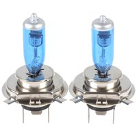 Wholesale H4 Super White Bulbs - Automobiles Motorcycle Headlight H4 Halogen lamp 12V 100W SUPER WHITE light car headlamps Halogen bulbs free shipping