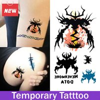 1 Blatt Nevermore Dota Sword Wasserdichte Aufkleber Temporäre Tattoo Transfer Sticker Neue Designs Make-up