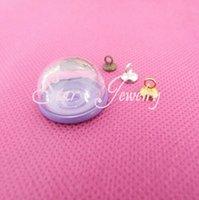 Wholesale Cabochon 12 Mm - Mode 20 X 12 mm bulle de verre clair bouteille + violet pendentif cabochon réglage bac + connecteur supérieur ( vous pouvez choisir la coule