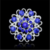6 colores plata brillante plateado claro Rhinestone cristal diamante diseño corazón flor broche Party Prom regalo pines