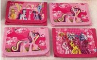 Wholesale Mini Little Ponies - 24pc lot Hot Sale children's Cartoon little pony wallet coin purse size:11.5*8cm