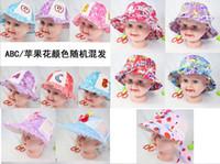Wholesale Hats Girls Sunbonnet - Children's Caps Hats fashion visor ball cap Bucket hats kids girl boy summer beach sunhat cartoon cap sunbonnet many styles