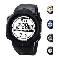 Sport outdoor date - S5Q Men Waterproof Rubber Outdoor LED Back Light Sports Date Digital Wrist Watch AAAFAY