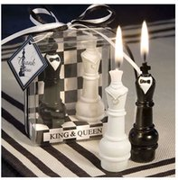 "Wholesale Chess Wedding Favors - Wholesale-wedding favor--""King & Queen Chess Piece Candle Favors which can be used as wedding favor in wedding party small wedding"