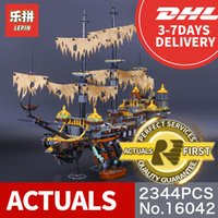 Wholesale Building Blocks Pirate Ship - Lepin 16042 2344Pcs The Slient Mary Set New Pirate Ship Series Children Educational Building Blocks Bricks Toys Model Gift 71042