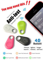 Wholesale Key Finder Remote Control Locator - smart key finder bluetooth locator tracer Anti lost alarm child tracker Remote Control Selfie for iPhone IOS Android key ITags custom design