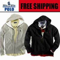 Wholesale Hooded Sweatshirts Zipper Men - Wholesale-Free delivery 2015 Polo Men's Zipper cardigan Sport hooded hoodies Fashion Coats Jacket Sportswear sweatshirts hoodie size
