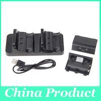 xbox one para ventas al por mayor-Nuevos accesorios cargador de la estación de base de carga dual + 2 baterías para el controlador inalámbrico XBOX ONE Venta caliente 010208