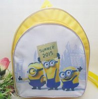 Wholesale Mochilas Minions - Hot sale New Fashion Novelty Despicable Me Kids Cartoon Backpack Minions emochilas children school bag mochilas