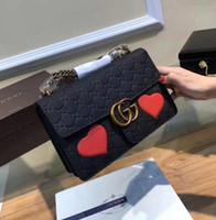 Wholesale Beautiful Leather Handbags - New Fashion Boston Bags women's Shoulder bag Real Leather handbags 2018 Brand G Woman beautiful chain Bag Top quality
