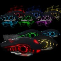 Gros-Sades Wing Flash Pro Gaming USB Optical Mouse Souris filaire 6 Couleur respiration lumineuse 2400 dpi 6 boutons