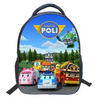 Wholesale character school bags for boys - Children Mini School Bags For Boys Girls 3d Cartoon Robocar Poli Schoolbag Kindergarten Baby Backpack Kids Mochila Infantil