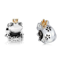 Wholesale prince jewelry - Hot Sale Wholesale Frog Prince Charm 925 Sterling Silver European Charms Bead Fit Bracelets Snake Chain Fashion DIY Jewelry