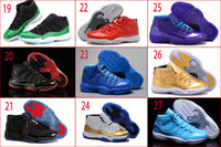 Wholesale Leather Shoes Nude Colour - 20 Colours (With Box)Wholesale Retro 11 XI Space Jams Bred Concord Transformers 72-10 DS Preorder Men Basketball Sport Sneakers Shoes