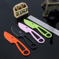 ingrosso coltello da collo-Nuovo arrivo ESEE Izula small Neck Knife 440 Lama fissa da campeggio 58HRC con fodero in ABS