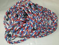 titan seil halsketten großhandel-2015 NEUE Titan geflochten 3 Seile Halskette Tornado SPORTS Fußball Baseball neue Tornado Halskette