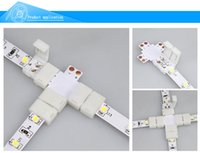 Wholesale Fpc Connectors - Single Color RGB Led Strip 3528,5050 FPC Board 2Pins&4Pins, L Cross T Shape Solderless Connector Board