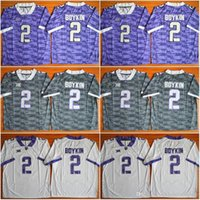 Wholesale Frog Custom - Custom TCU Horned Frogs #7 Kenny Hill #21 Kyle Hicks #12 Shawn Robinson #25 KaVontae Turpin #18 Jalen Reagor College Stitched Jerseys