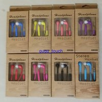 Wholesale galaxy s3 pack - In-Ear Handsfree Earphone Headset with MIC and Volume Control headphone for Samsung Galaxy S4 S5 S3 with retail box packing 100pc