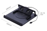 Wholesale-Hot-venda 2 Fan porta USB Cooler Pad Stand For 14