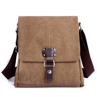 Wholesale Military Laptop Messenger Bag - Wholesale-Hot Sell 2015 Military Men Laptop Shoulder Bag New Fashion Men's Vintage Canvas School Messenger Bag Satchel Casual students
