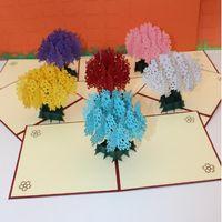 Wholesale Sakura Cards - 3D Handmade Card Mothers Day Gifts 3D Envelope Romantic Sakura Greeting Card Cute Sakura Tree Post Card CCA8217 100pcs