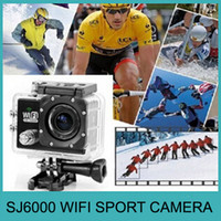 Wholesale SJ6000 WIFI Sport Action Video Camera FHD P MP inch Mini Camcorder Car Recorder M Waterproof Hot Sell DHL EMS