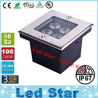 Wholesale Ac Deck - Square Underground Led Lights High Bright 12W Deck Lighting Led Garden Light Floor Light IP67 Waterproof AC 85-265V