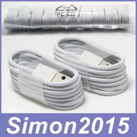 Wholesale Phone Line Wiring - 1M 3Ft Micro V8 Sync Data USB Cable Charging Cords Charger Wire Line for Samsung Galaxy S2 S3 S4 S6 Edge Sony 5 6 LG HTC Nokia All Phones
