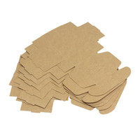 Wholesale printing chemicals online - 65 mm Cookies Box Square Kraft Paper Gift Boxes Brown Foldable Hand Made Soap Organizer New Arrival xy B