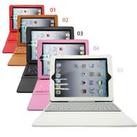 ipad mini ledertastatur großhandel-Bluetooth Wireless Keyboard Ledertasche für Ipad Pro 1 2 3 4 5 Air Mini 2 Retina Ständer Halter Schutzfolie Schutzfolie mit Tastatur US01