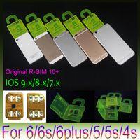 iphone 4s tarjeta desbloqueada al por mayor-RSIM 10+ R SIM 10plus RSIM 10+ Rsim10 + desbloquear la tarjeta para el iPhone 6S 6 5S 5 4S ios9 9.X 3G 4G CDMA Sprint, AU, uso directo Softbank s no Rpatch
