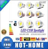 Wholesale Mr16 Cob Led 7w - X5 2015 OPEN led Dimmable E27 GU10 E14 GU5.3 MR16 5W 7W 9W COB led light bulb AC110-240V AC12V led lamp spotlight 3 years warranty+ce rohs