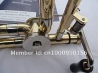 Wholesale gold trombone resale online - Bach BO Senior Tenor Trombone Alloy Copper Body Gold Lacquer Surface Bb Trombone Musical Instruments