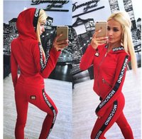 Wholesale Tracksuits For Females - Women's Two Piece Set Tracksuits for women Top And Pants Hoodies Sweatshirts Long Sleeve Color Patchwork Sporting Suit Female supreman
